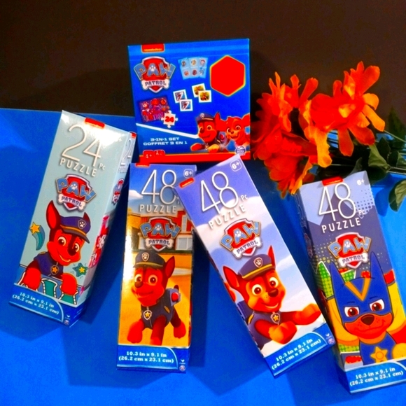 4PC Nickelodeon Paw Patrol Puzzles Sets